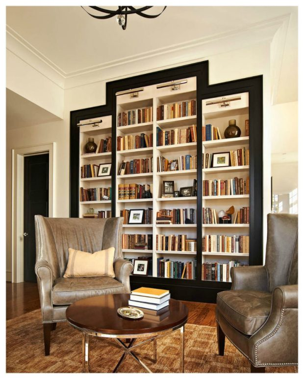 ravishing-furniture-for-tiny-space-living-rooms-with-big-bookcase-using-glass-cabinet-door-along-brown-leather-sofa-chair-and-brown-round-coffee-table-as-well-as-replace-kitchen-cabinet-doors-also-rep-744x926